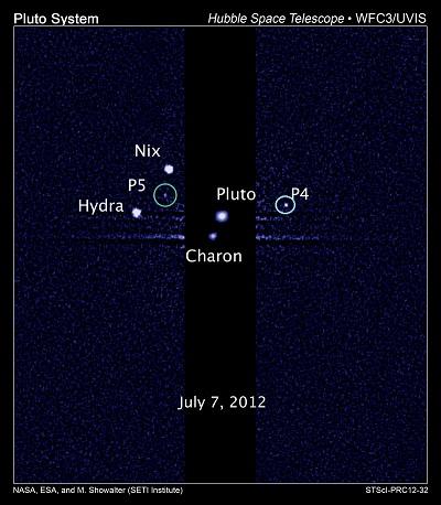 Nieuwe manen van Pluto